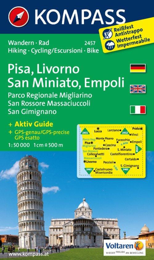 Carta escursionistica n. 2457. Pisa, Livorno, San Miniato, Empoli. Adatto a GPS. Digital map. DVD-ROM