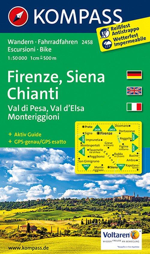 Carta escursionistica n. 2458. Firenze, Siena, Chianti. Adatto a GPS. Digital map. DVD-ROM