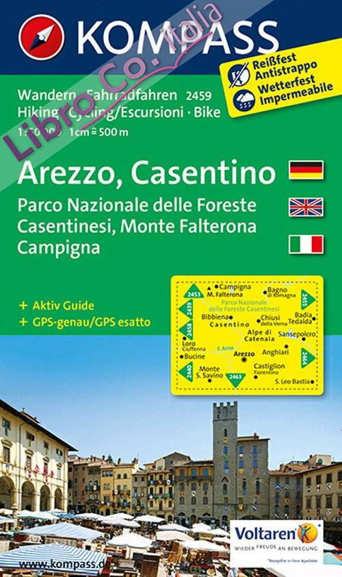 Carta escursionistica n. 2459. Arezzo, Casentino. Adatto a GPS. Digital map. DVD-ROM