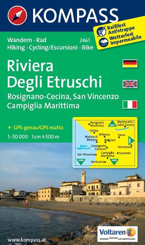 Carta escursionistica n. 2461. Riviera Degli Etruschi. Adatto a GPS. Digital map. DVD-ROM