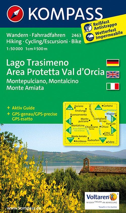 Carta escursionistica n. 2463. Lago Trasimeno, area protetta Val d'Orcia. Adatto a GPS. Digital map. DVD-ROM