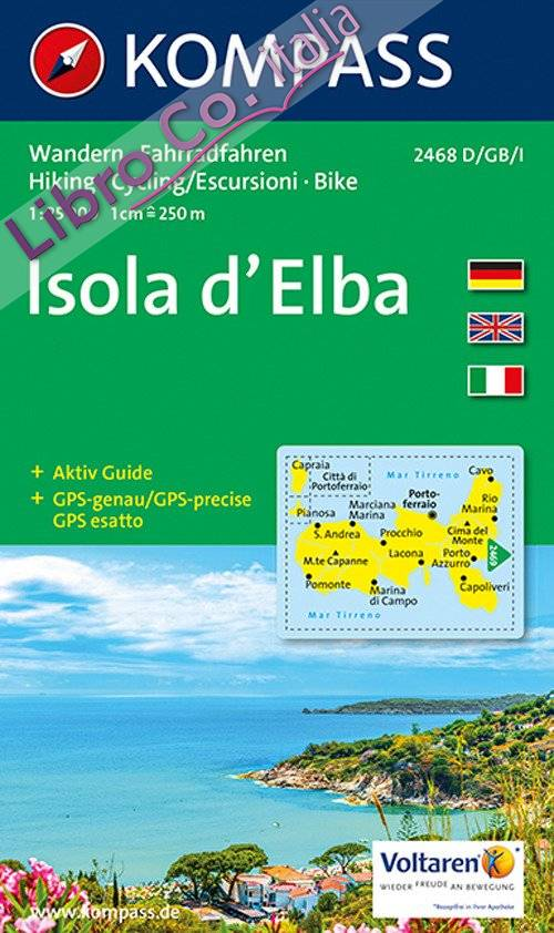 Carta escursionistica n. 2468. Isola d'Elba 1:25.000. Adatto a GPS. Digital map. DVD-ROM