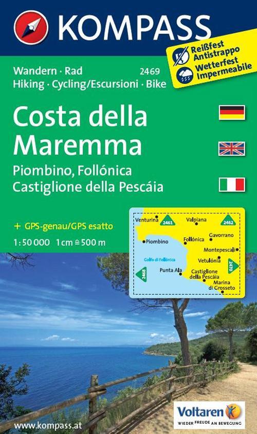 Carta escursionsitica n. 2469. Costa della Maremma. Adatto a GPS. Digital map. DVD-ROM