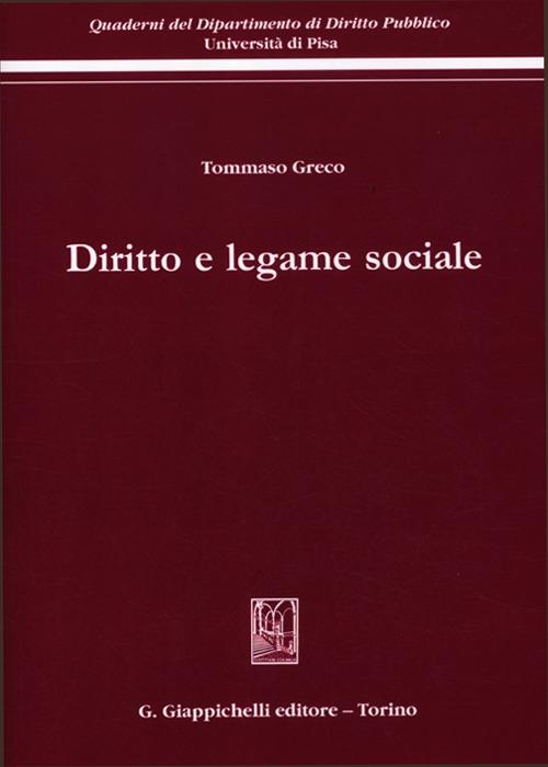 Diritto e legame sociale