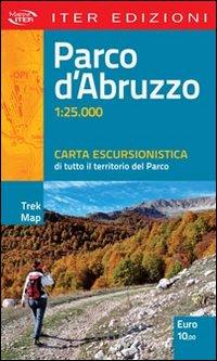 Parco d'Abruzzo. Carta escursionistica di tutto il territorio del parco. 1:25.000.