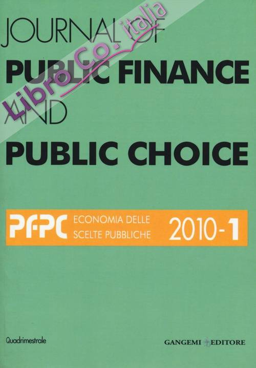 Journal of Public Finance and Public Choice. 1/2010