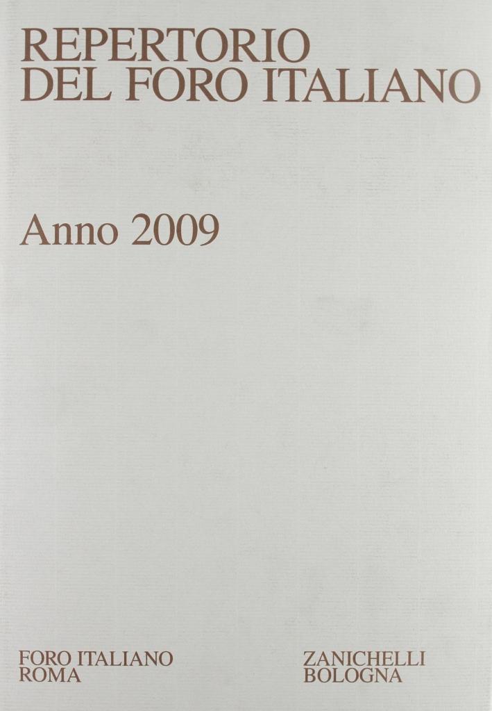 Repertorio Foro Italiano 2009