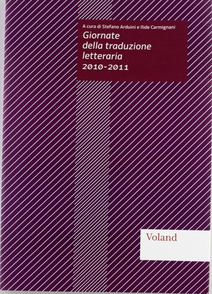 Giornate della traduzione letteraria 2010-2011