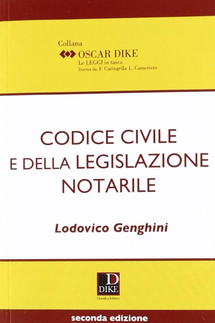 Codice Civile e della Legislazione Notarile Pocket.