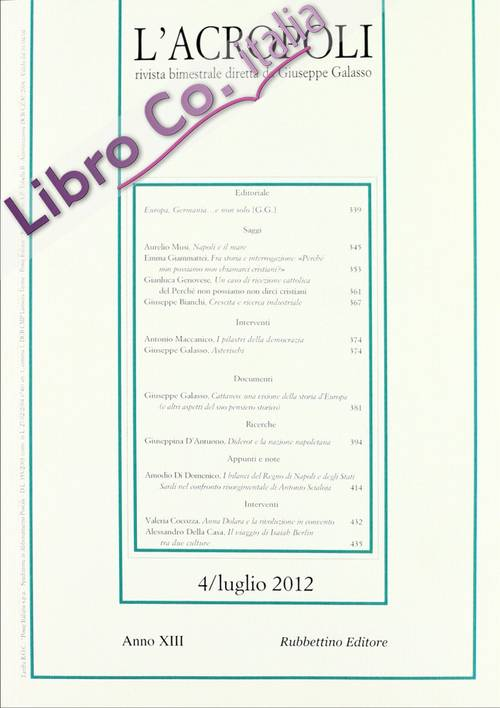 L'acropoli (2012). Vol. 4.
