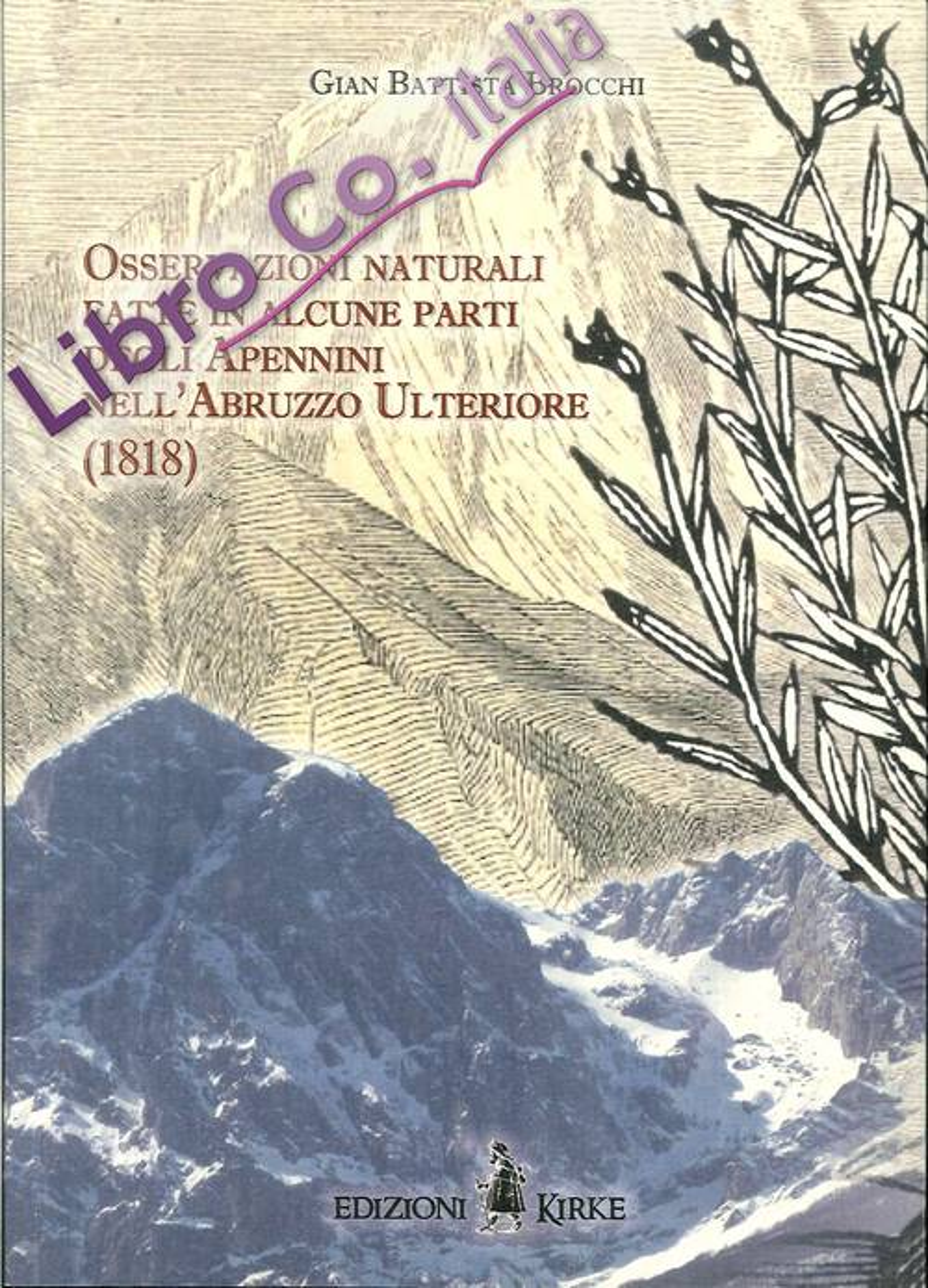 Osservazioni naturali fatte in alcune parti degli Apennini nell'Abruzzzo Ulteriore (1818).