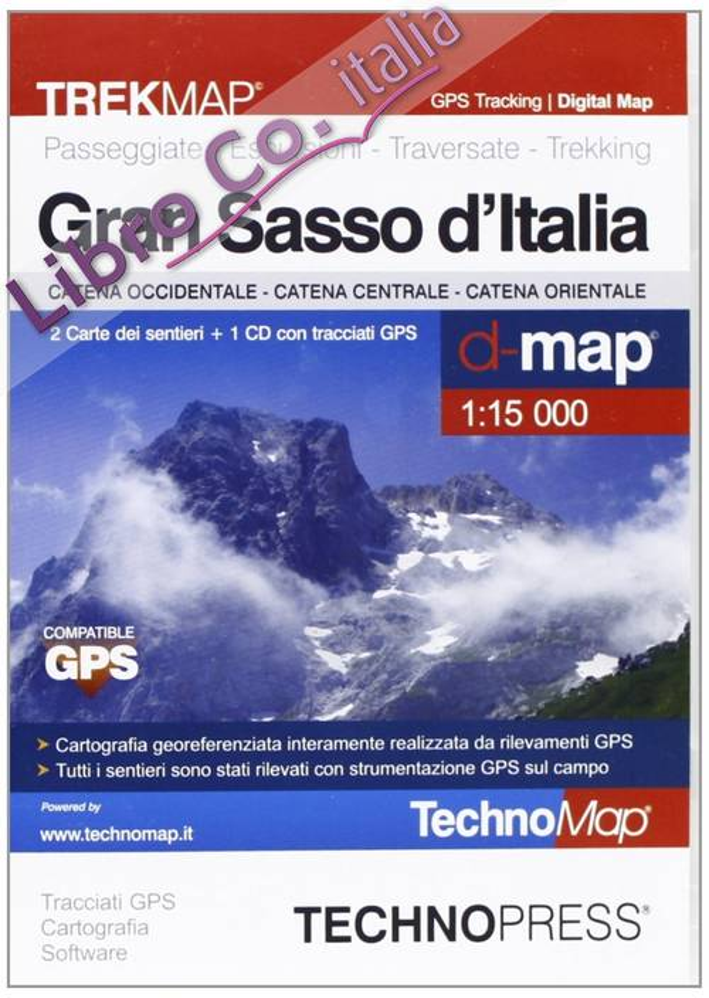 Gran Sasso d'Italia. Mappa