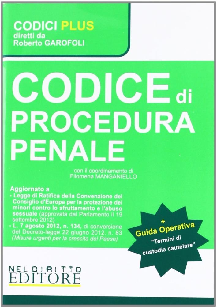 Codice di Procedura Penaletermini di Custodia Cautelare