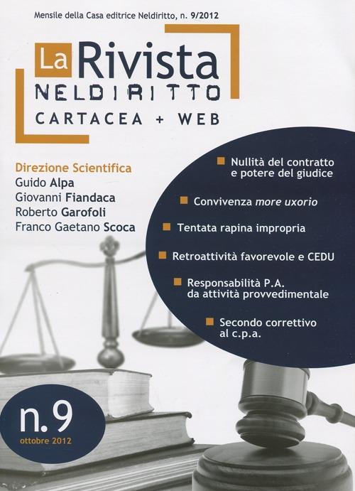 La rivista di Neldiritto (2012) vol.9.