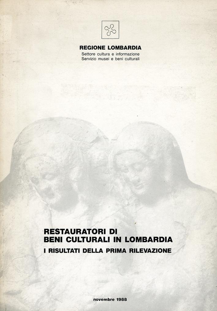 Restauratori di beni culturali in Lombardia. I risultati della prima rilevazione
