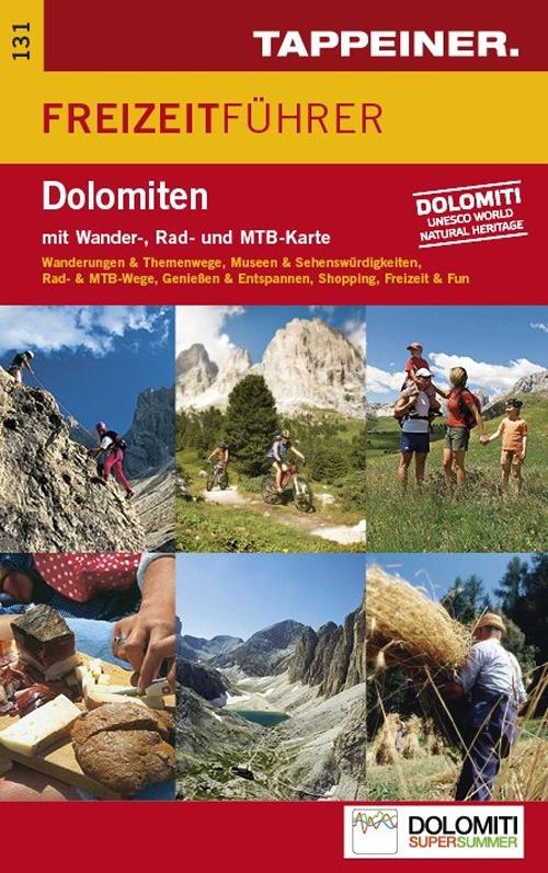 Carta e guida per il tempo libero Dolomiti. Carta topografica 1:70.000. Con guida. Ediz. tedesca