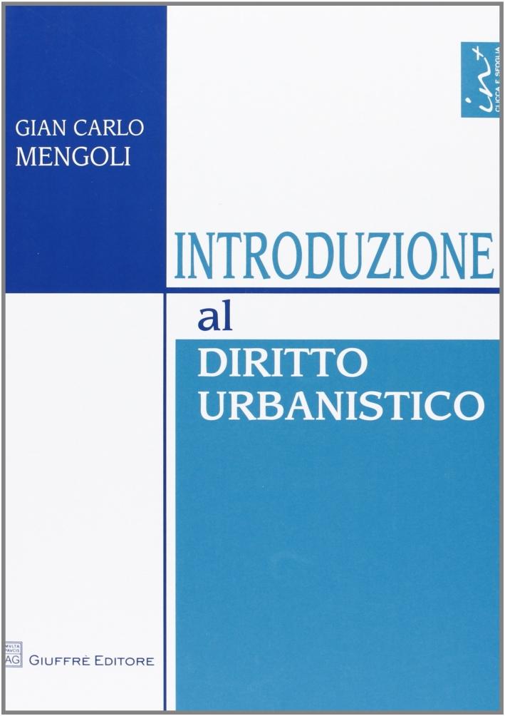 Introduzione al diritto urbanistico.