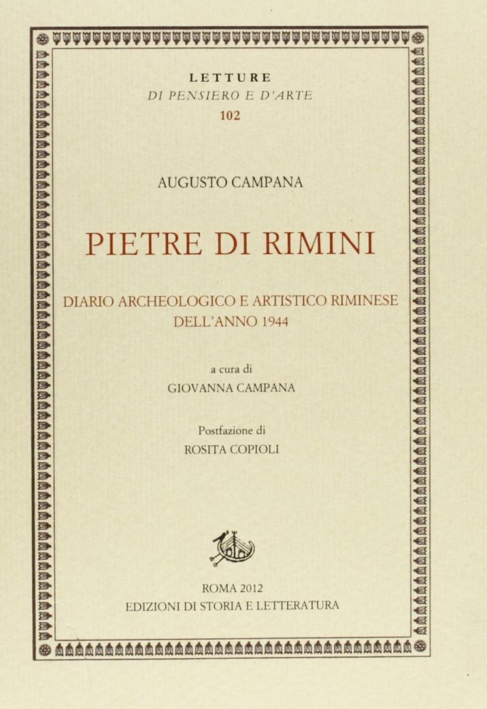 Pietre di Rimini. Diario Archeologico e Artistico Riminese dell'Anno 1944
