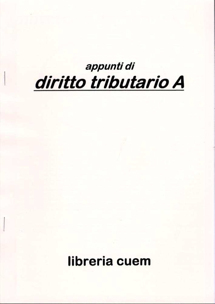Appunti di diritto tributario A. VA 062