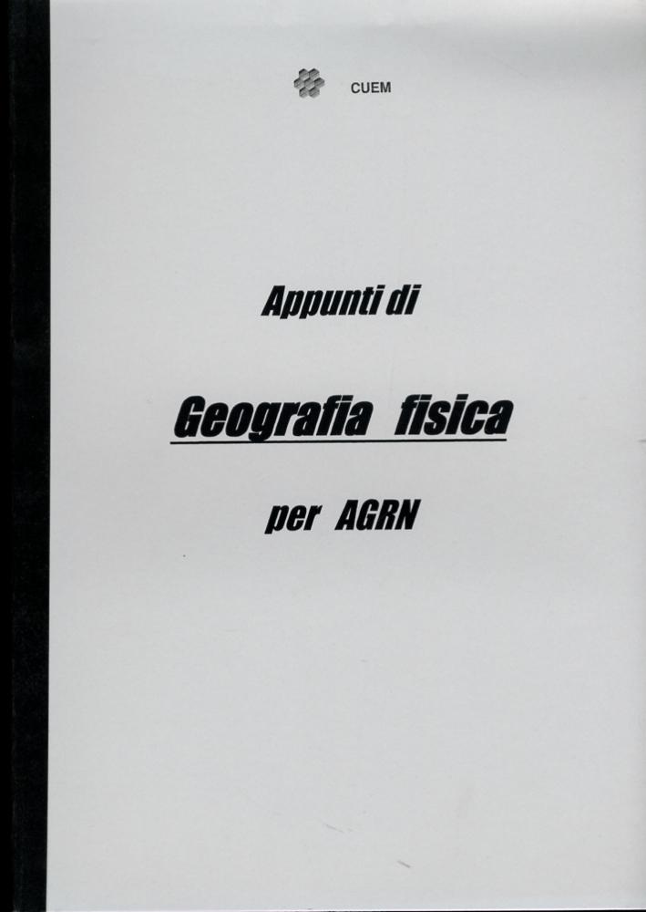 Appunti di geografia fisica per agrn. VA 039.