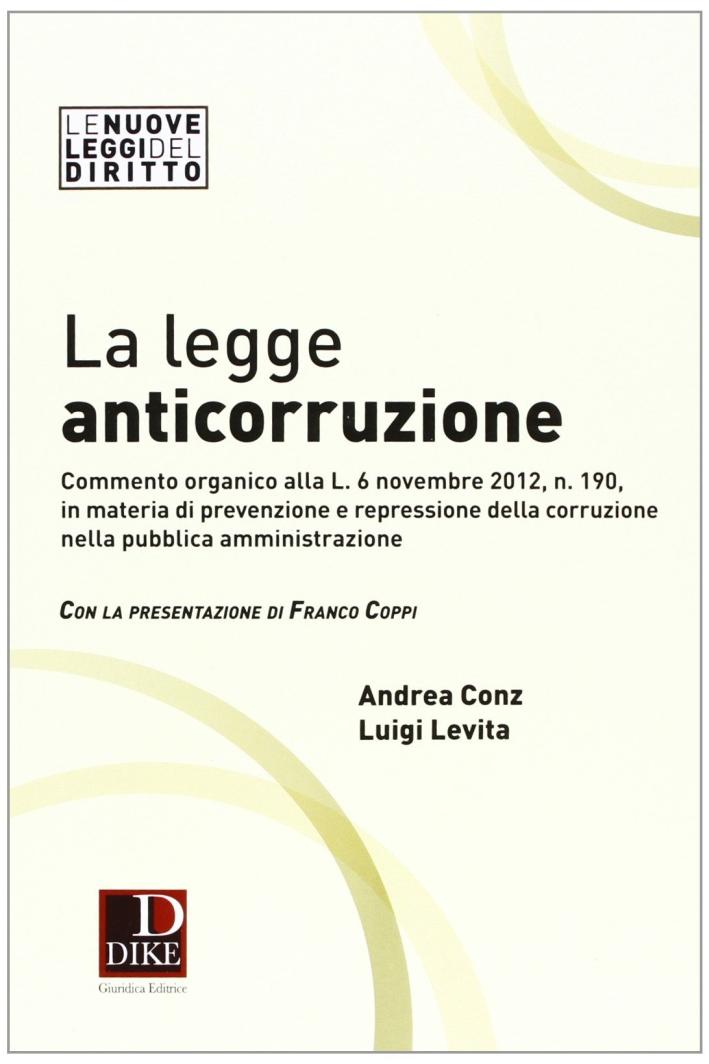 La legge anticorruzione.