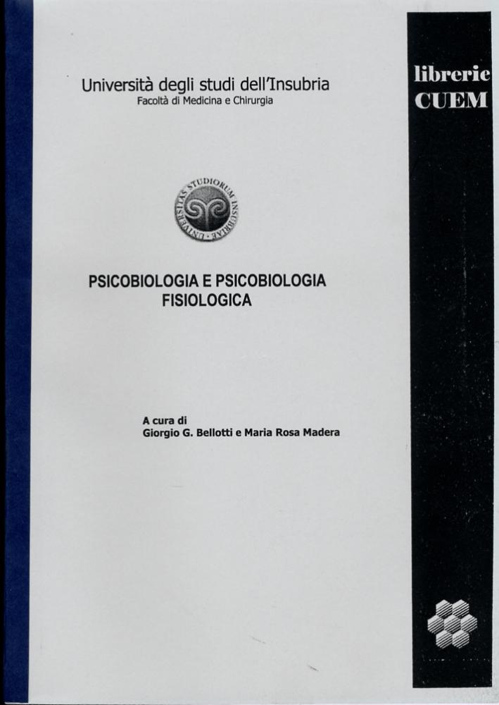 Psicobiologia e psicobiologia fisiologica. VA 025.