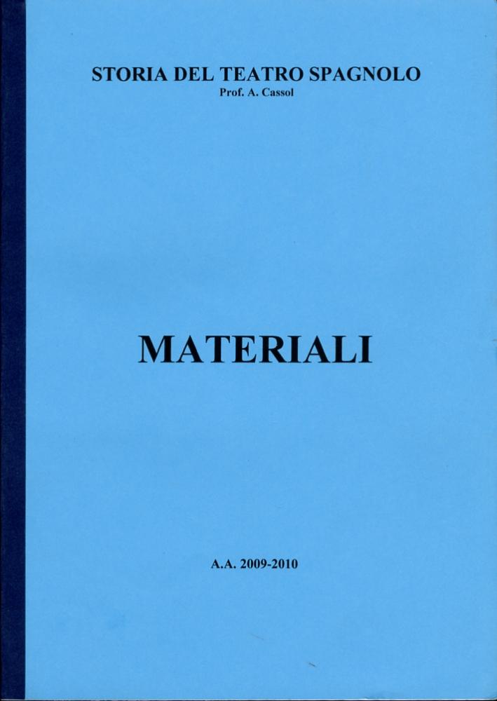 Storia del teatro spagnolo. Materiali. 3296.