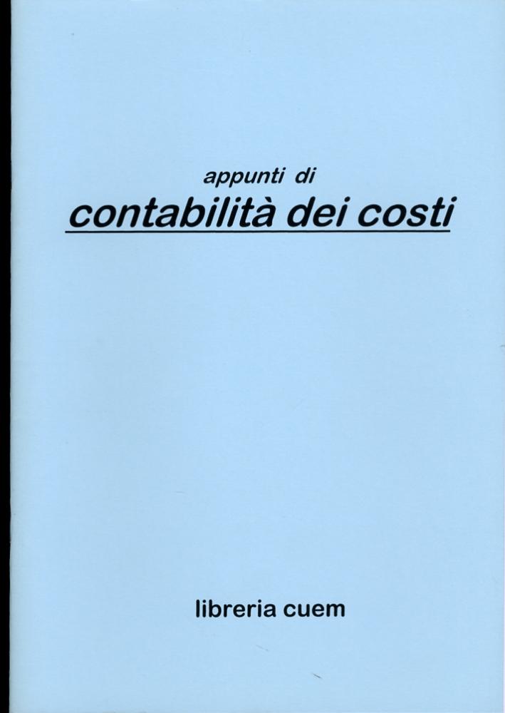 Appunti di contabilità dei costi. VA 065