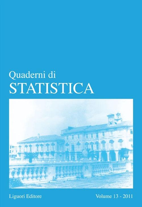 Quaderni di statistica (2011). Vol. 13.