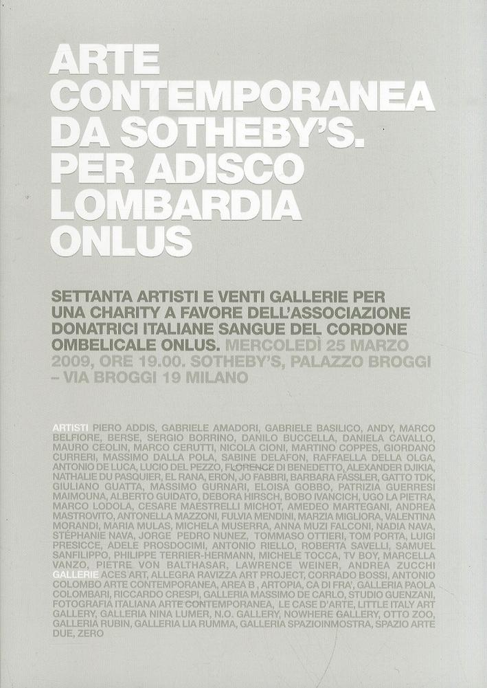 Arte Contemporanea a Favore di Adisco Lombardia Onlus
