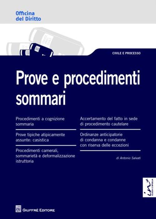 Prove e procedimenti sommari