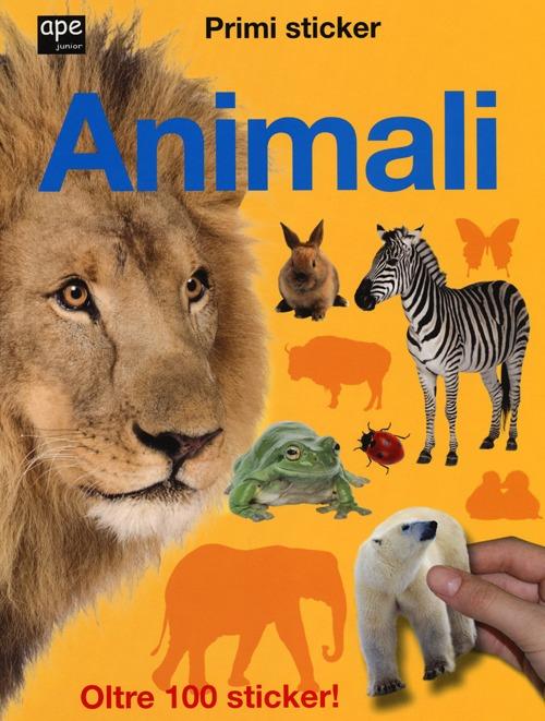 Animali. Primi sticker. Con adesivi.