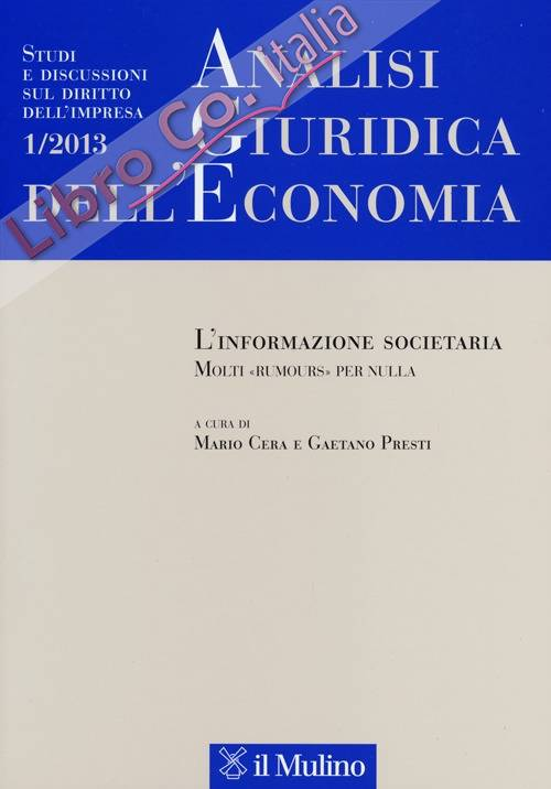 Analisi giuridica dell'economia (2013). Vol. 1