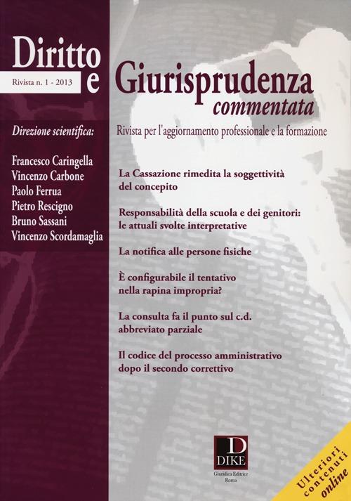 Diritto e giurisprudenza commentata (2013). Vol. 1.