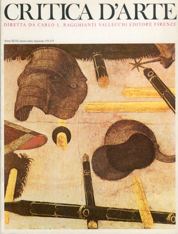 Critica d'arte. Anno XLVI. Nuova serie. Fascicolo 0175-0177.