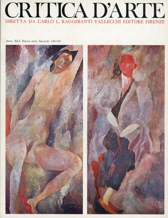 Critica d'arte. Anno XLI. Nuova serie. Fascicolo 148-149.