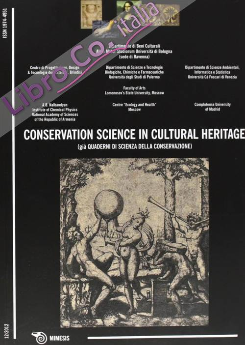 Conservation science in cultural heritage. Vol. 12