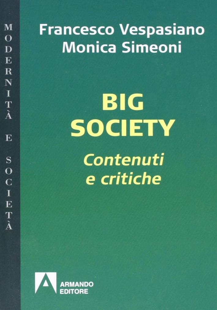 Big society. Contenuti e critiche