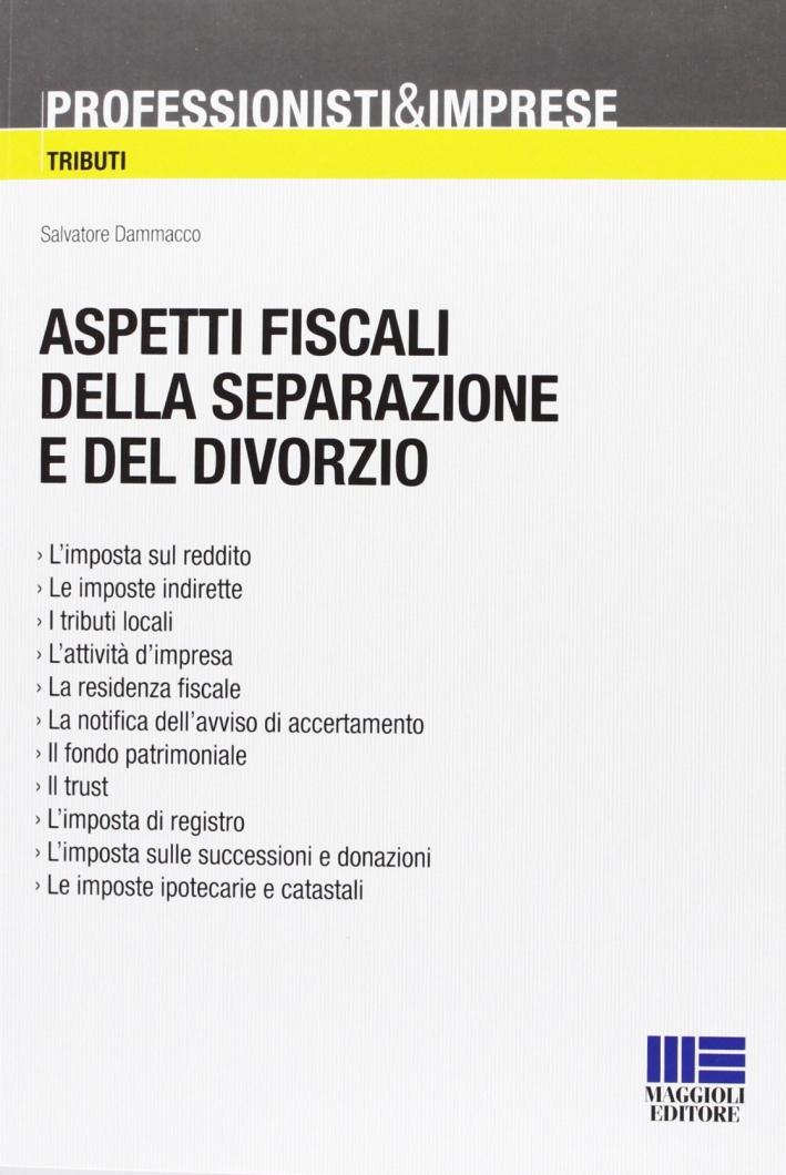 Aspetti fiscali della separazione e del divorzio