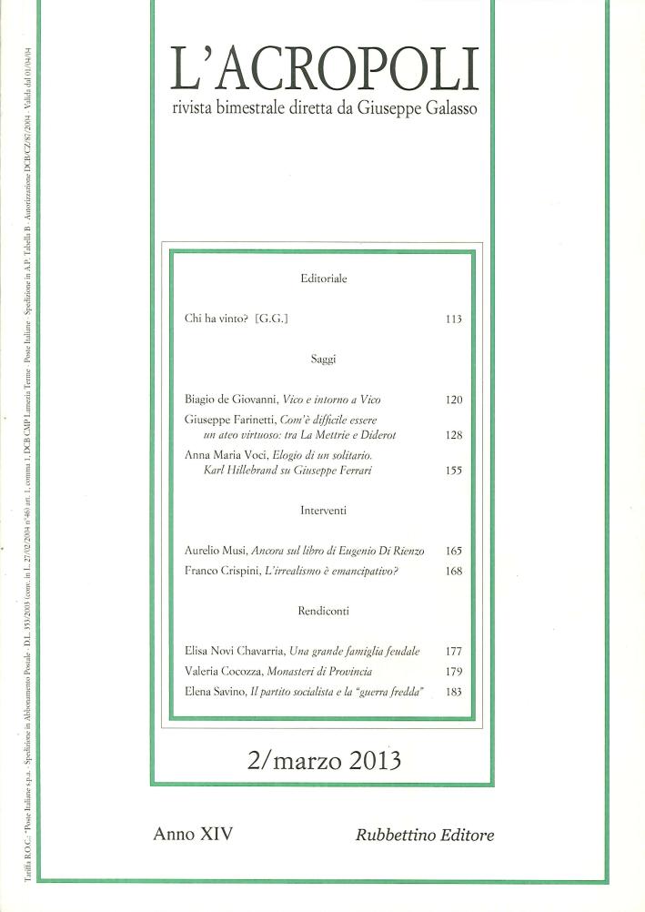 L'Acropoli (2013). Vol. 2.