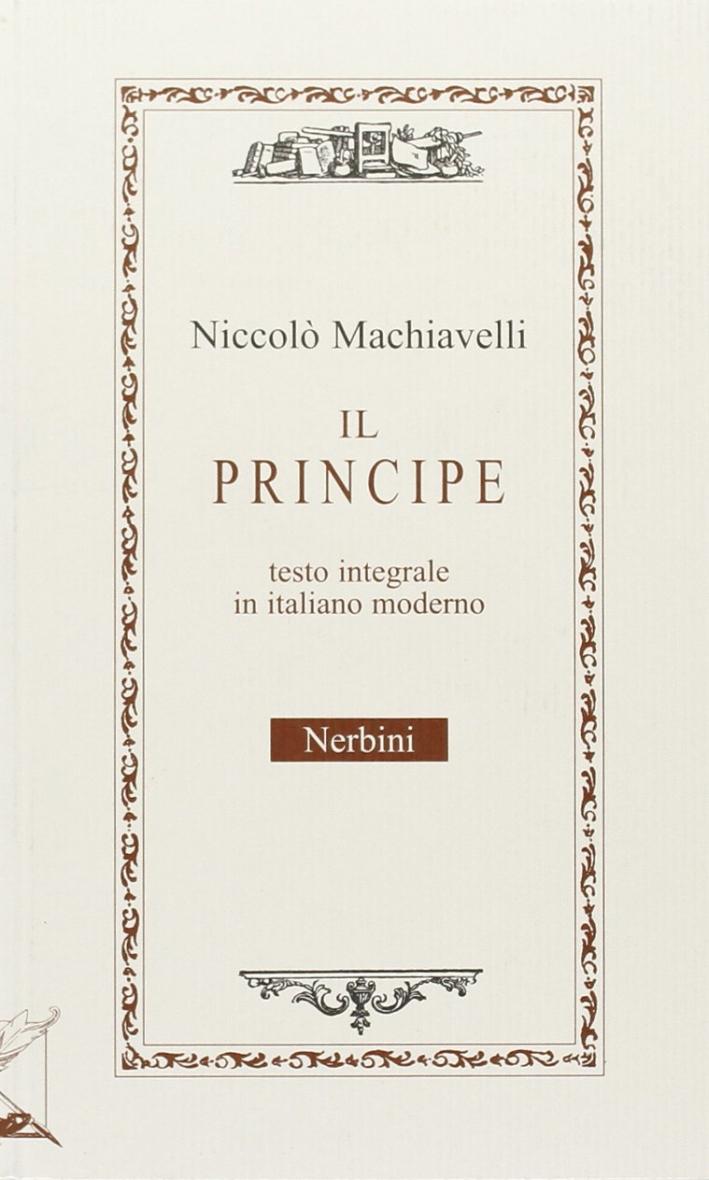 Il principe versione in italiano corrente.