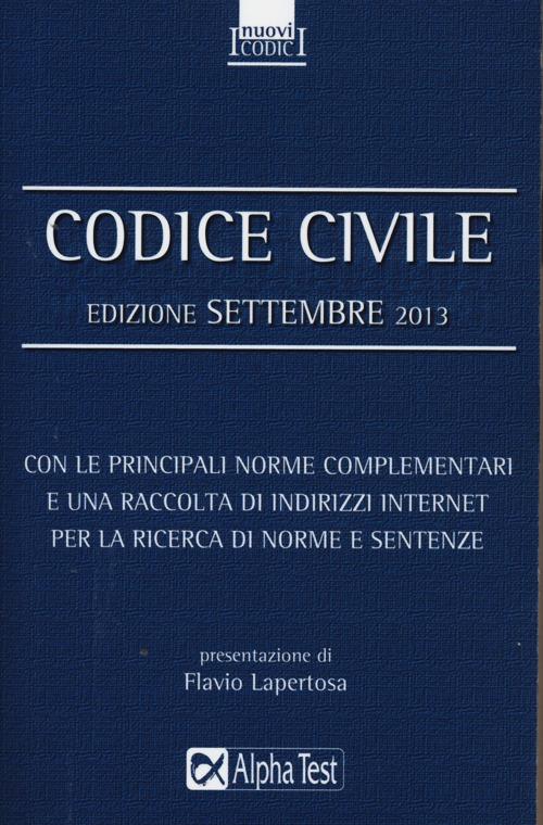 Codice civile. Settembre 2013.