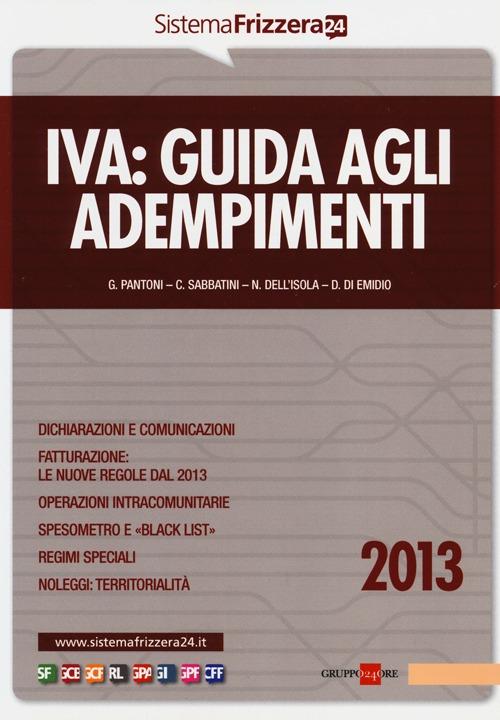 Iva. Guida agli adempimenti 2013