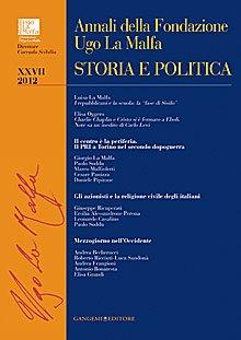 Annali della Fondazione Ugo La Malfa (2012). Vol. 27: Storia e politica