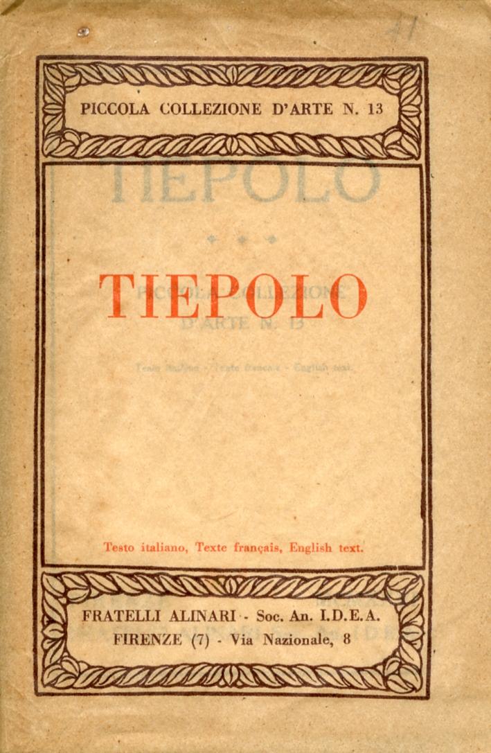 Tiepolo. Piccola collezione d'arte n. 13
