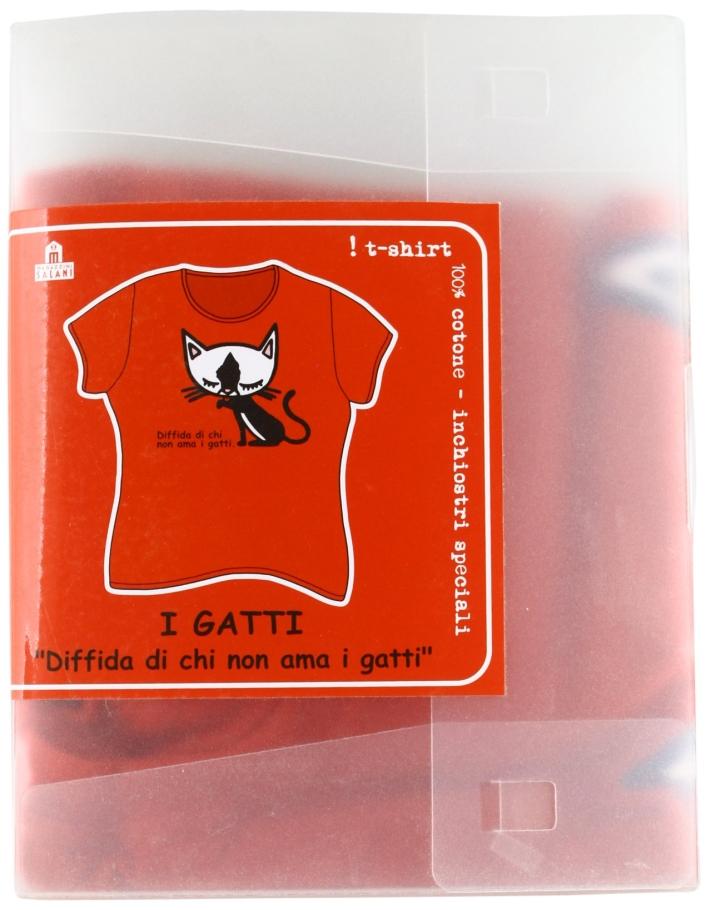 Diffida Di Chi Non Ama I Gatti (T-Shirt, Tg. M)