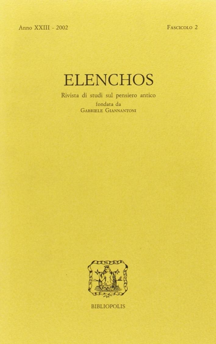 Elenchos. Anno Xxiii 2002. Fascicolo 2