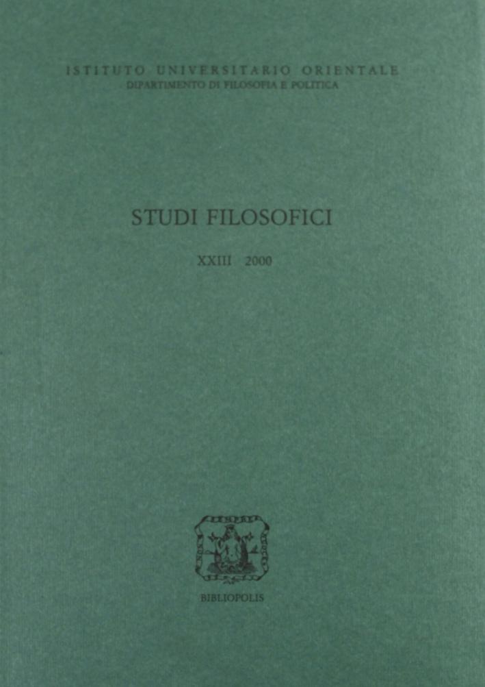 Studi Filosofici Xxiii 2000