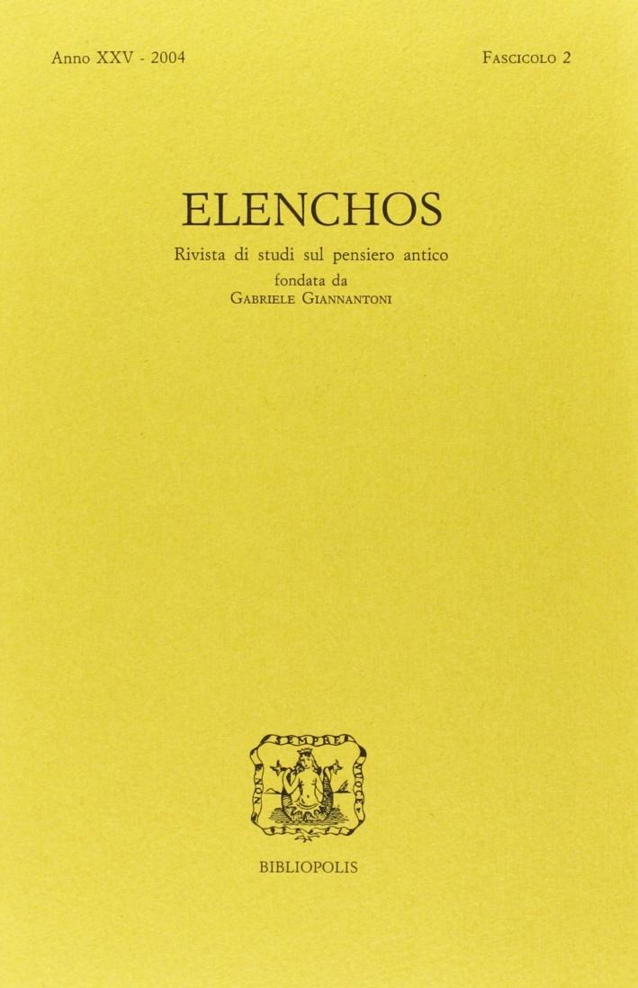 Elenchos. Anno Xxv 2004. Fascicolo 2