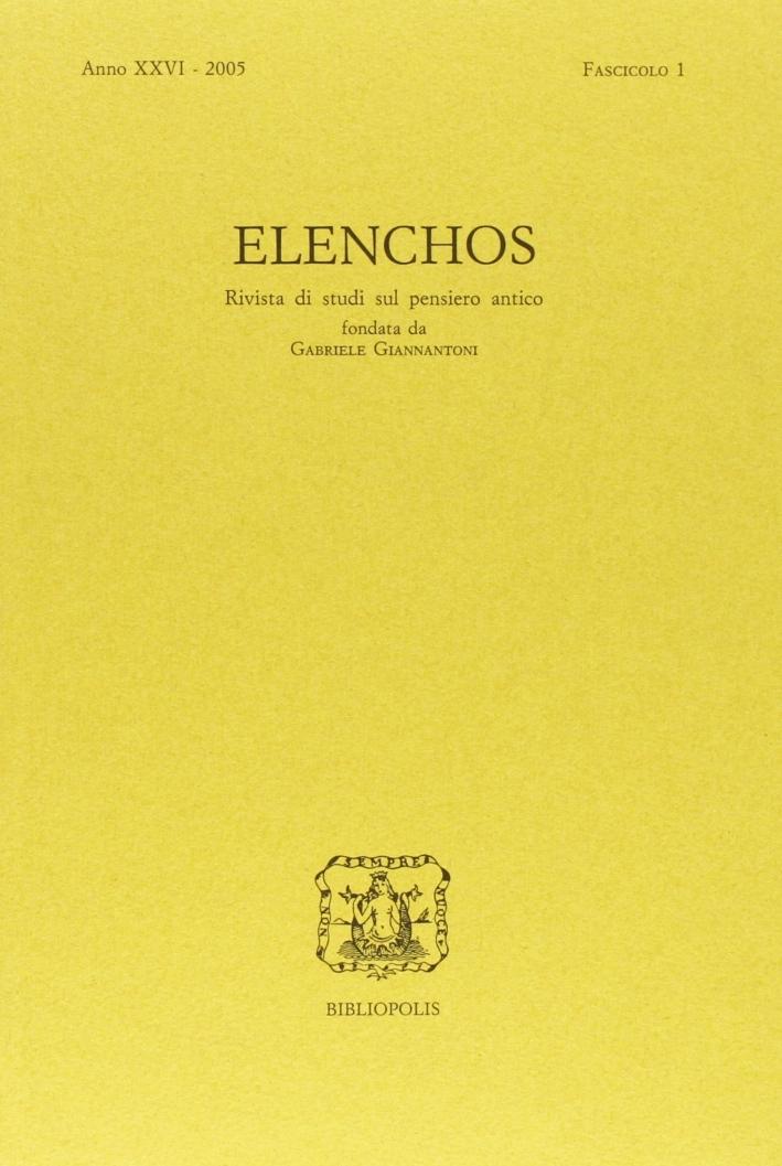 Elenchos. Anno Xxvi 2005. Fascicolo 1